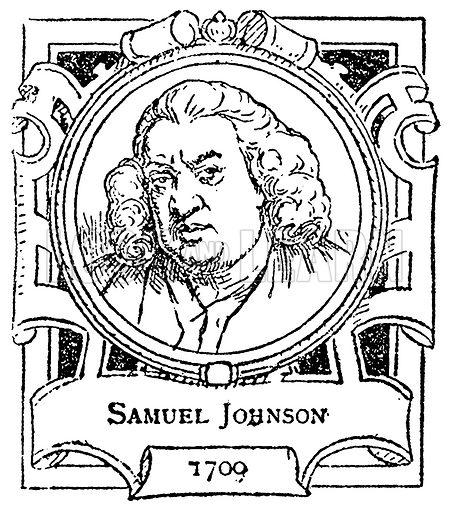 Samuel Johnson. Illustration for The Portrait Birthday-Book (Seely, c 1870).