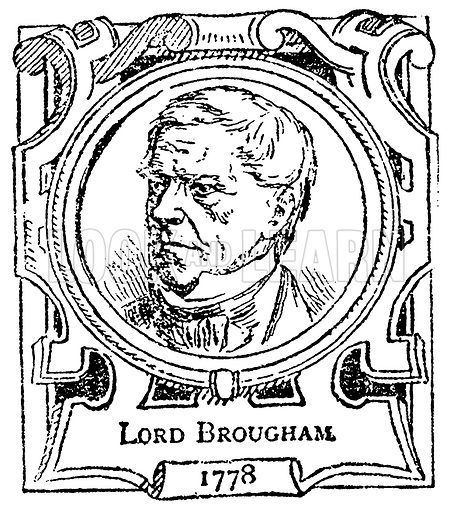 Lord Brougham. Illustration for The Portrait Birthday-Book (Seely, c 1870).