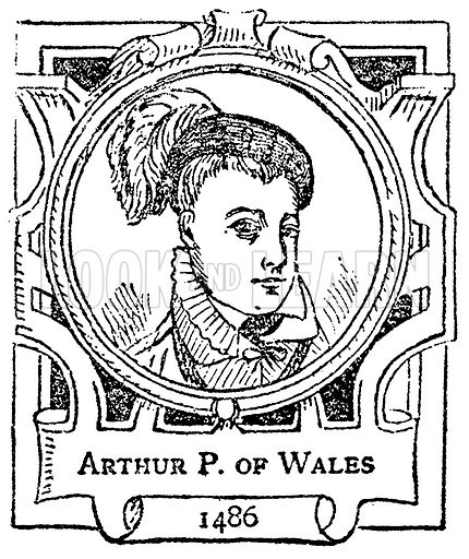 Arthur P. of Wales. Illustration for The Portrait Birthday-Book (Seely, c 1870).