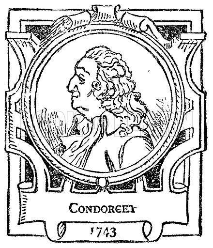 Condorcet. Illustration for The Portrait Birthday-Book (Seely, c 1870).