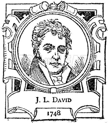 JL David. Illustration for The Portrait Birthday-Book (Seely, c 1870).