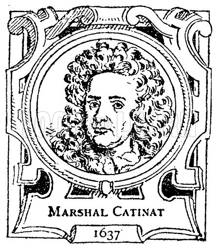 Marshal Catinat. Illustration for The Portrait Birthday-Book (Seely, c 1870).
