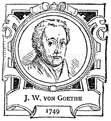 J. W. von Goethe. Illustration for The Portrait Birthday-Book (Seely, c 1870).