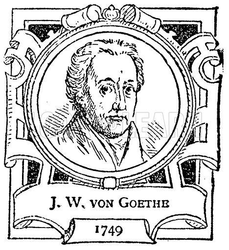 JW von Goethe. Illustration for The Portrait Birthday-Book (Seely, c 1870).