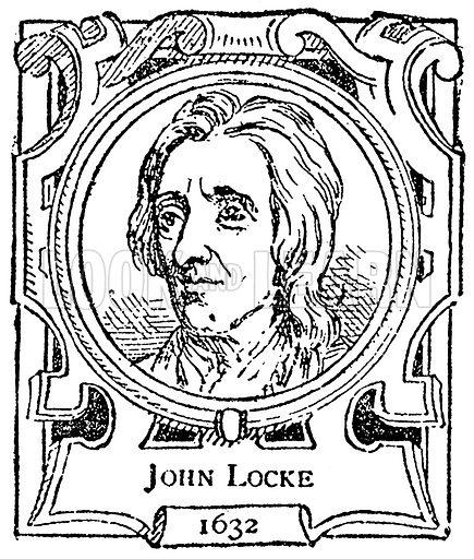 John Locke. Illustration for The Portrait Birthday-Book (Seely, c 1870).