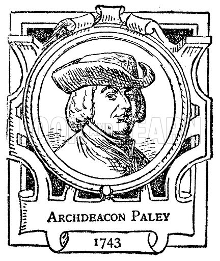 Archdeacon Paley. Illustration for The Portrait Birthday-Book (Seely, c 1870).