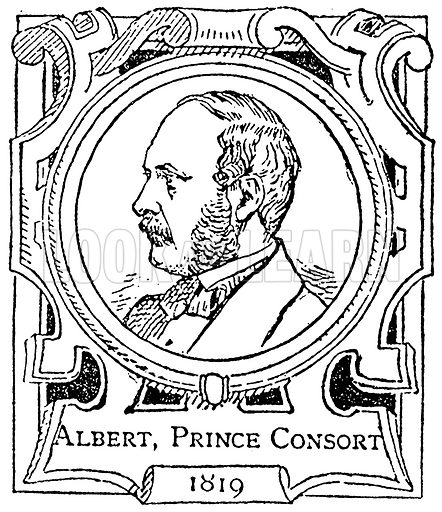Albert, Prince Consort. Illustration for The Portrait Birthday-Book (Seely, c 1870).