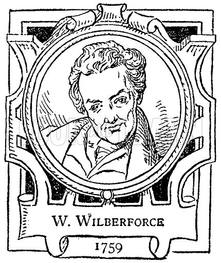 W. Wilberforce. Illustration for The Portrait Birthday-Book (Seely, c 1870).