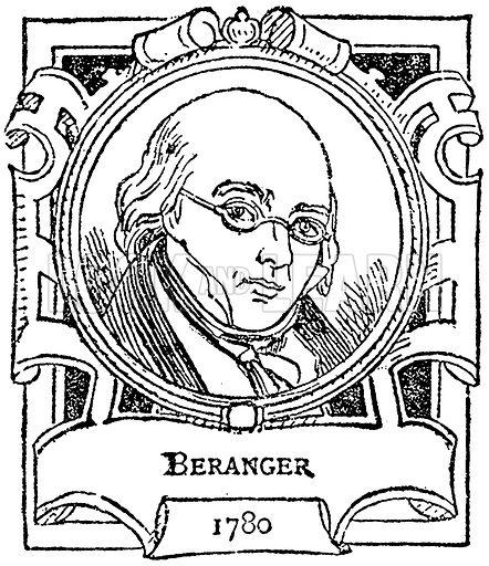 Beranger. Illustration for The Portrait Birthday-Book (Seely, c 1870).
