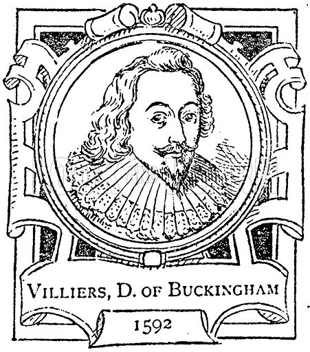 Villiers, D. of Buckingham. Illustration for The Portrait Birthday-Book (Seely, c 1870).