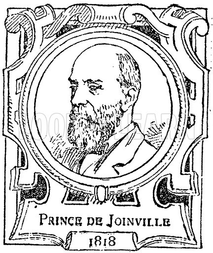 Prince de Joinville. Illustration for The Portrait Birthday-Book (Seely, c 1870).