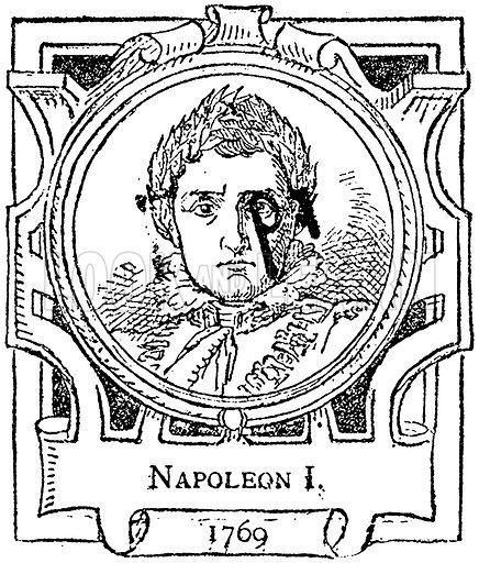 Napoleon I. Illustration for The Portrait Birthday-Book (Seely, c 1870).