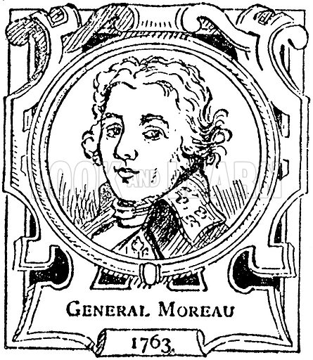 General Moreau. Illustration for The Portrait Birthday-Book (Seely, c 1870).