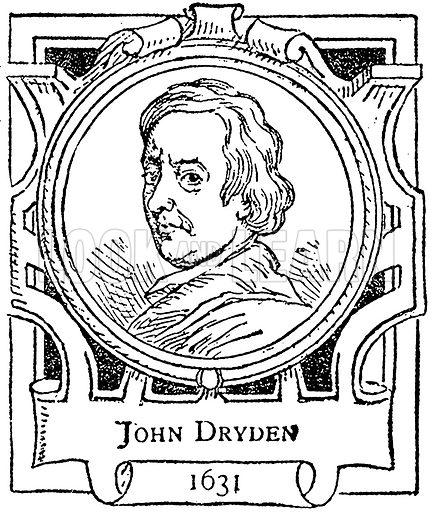 John Dryden. Illustration for The Portrait Birthday-Book (Seely, c 1870).