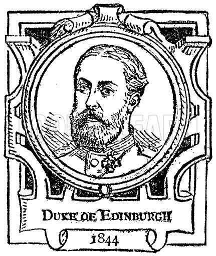Duke of Edingurgh. Illustration for The Portrait Birthday-Book (Seely, c 1870).