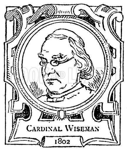Cardinal Wiseman. Illustration for The Portrait Birthday-Book (Seely, c 1870).