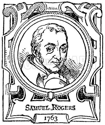 Samuel Rogers. Illustration for The Portrait Birthday-Book (Seely, c 1870).