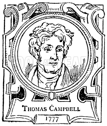 Thomas Campbell. Illustration for The Portrait Birthday-Book (Seely, c 1870).
