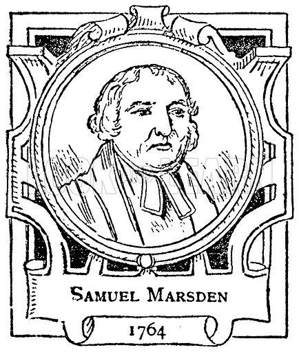Samuel Marsden. Illustration for The Portrait Birthday-Book (Seely, c 1870).