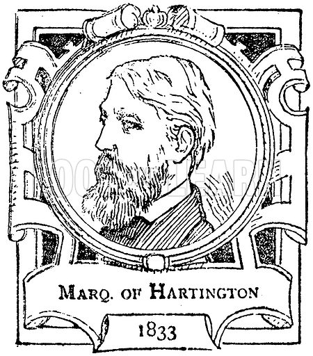 Marq. of Hartington. Illustration for The Portrait Birthday-Book (Seely, c 1870).