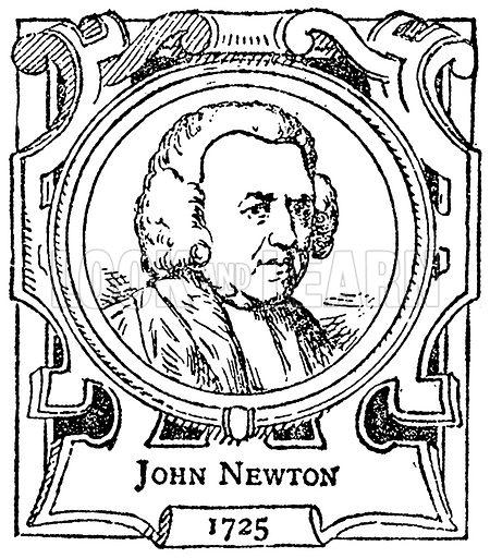 John Newton. Illustration for The Portrait Birthday-Book (Seely, c 1870).