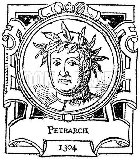 Petrarch. Illustration for The Portrait Birthday-Book (Seely, c 1870).
