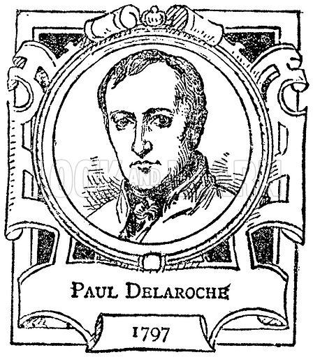 Paul Delaroche. Illustration for The Portrait Birthday-Book (Seely, c 1870).