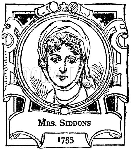 Mrs. Siddons. Illustration for The Portrait Birthday-Book (Seely, c 1870).