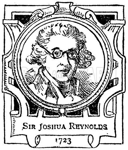 Sir Joshua Reynolds. Illustration for The Portrait Birthday-Book (Seely, c 1870).