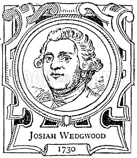 Josiah Wedgwood. Illustration for The Portrait Birthday-Book (Seely, c 1870).