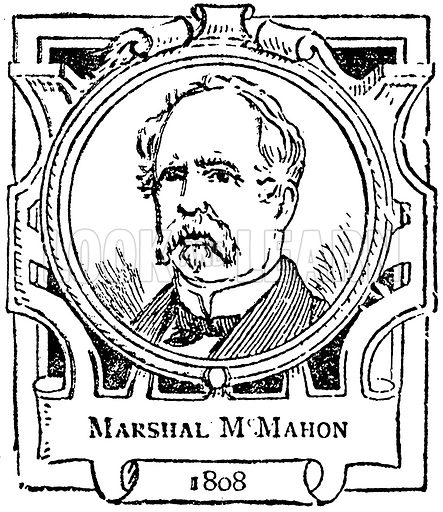Marshal McMahon. Illustration for The Portrait Birthday-Book (Seely, c 1870).