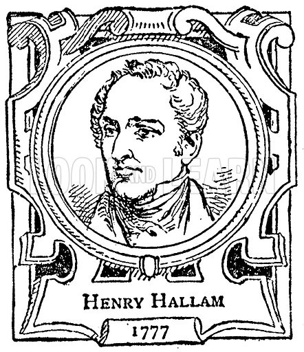 Henry Hallam. Illustration for The Portrait Birthday-Book (Seely, c 1870).