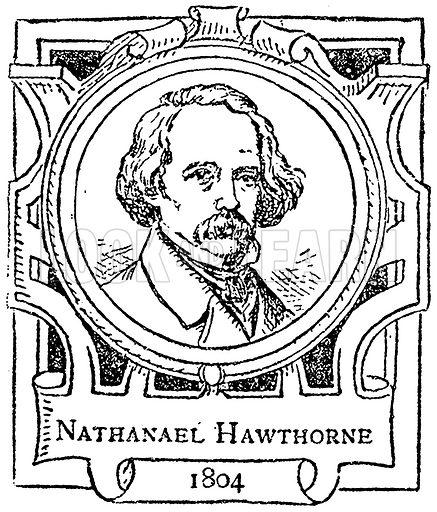 Nathanael Hawthorne. Illustration for The Portrait Birthday-Book (Seely, c 1870).