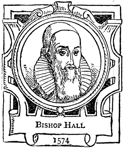 Bishop Hall. Illustration for The Portrait Birthday-Book (Seely, c 1870).