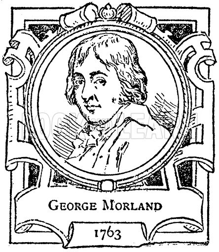 George Morland. Illustration for The Portrait Birthday-Book (Seely, c 1870).