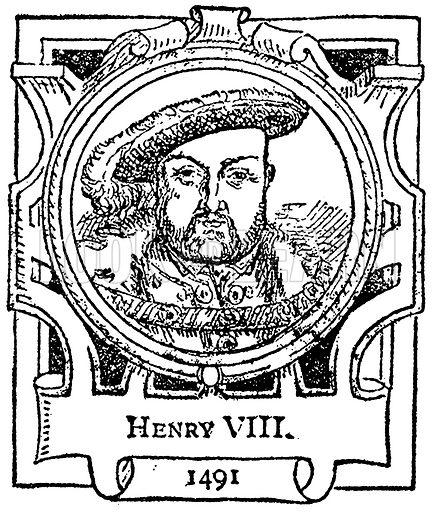 Henry VIII. Illustration for The Portrait Birthday-Book (Seely, c 1870).