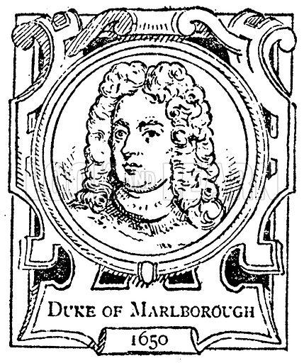 Duke of Marlborough. Illustration for The Portrait Birthday-Book (Seely, c 1870).