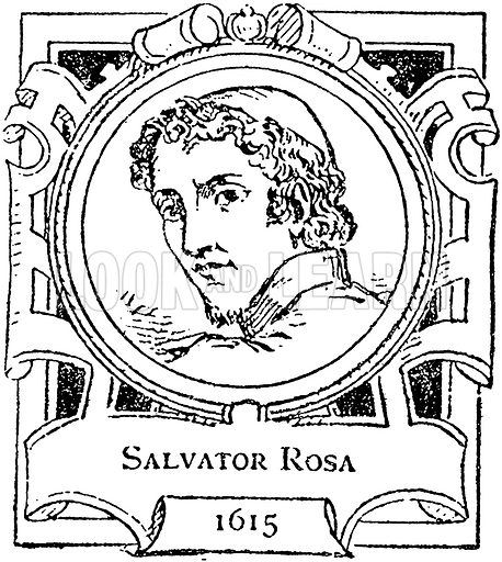 Salvator Rosa. Illustration for The Portrait Birthday-Book (Seely, c 1870).