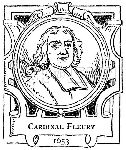 Cardinal Fleury. Illustration for The Portrait Birthday-Book (Seely, c 1870).