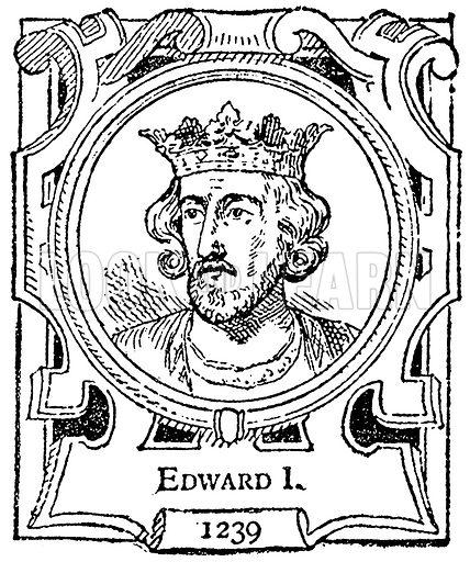 Edward I. Illustration for The Portrait Birthday-Book (Seely, c 1870).