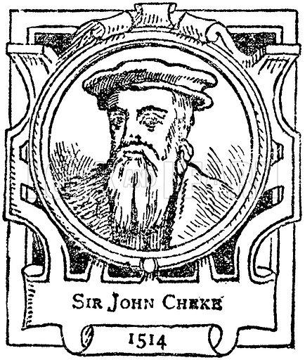 Sir John Cheke. Illustration for The Portrait Birthday-Book (Seely, c 1870).