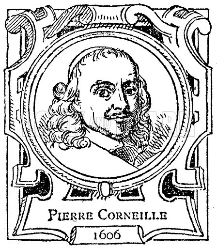 Pierre Corneille. Illustration for The Portrait Birthday-Book (Seely, c 1870).