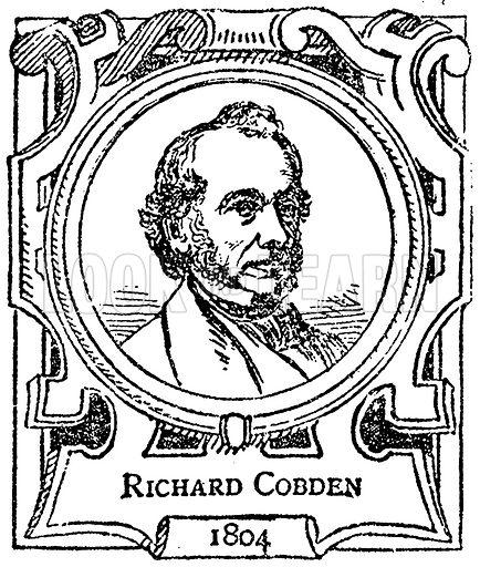 Richard Cobden. Illustration for The Portrait Birthday-Book (Seely, c 1870).