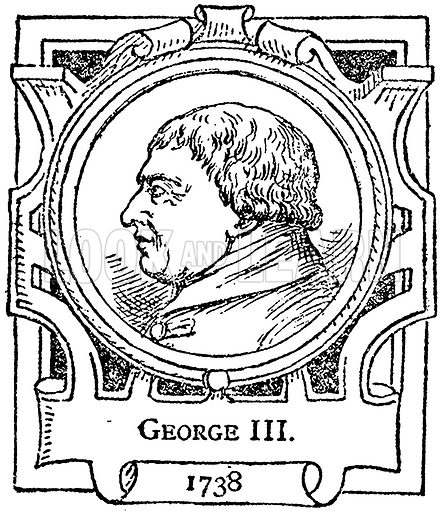 George III. Illustration for The Portrait Birthday-Book (Seely, c 1870).