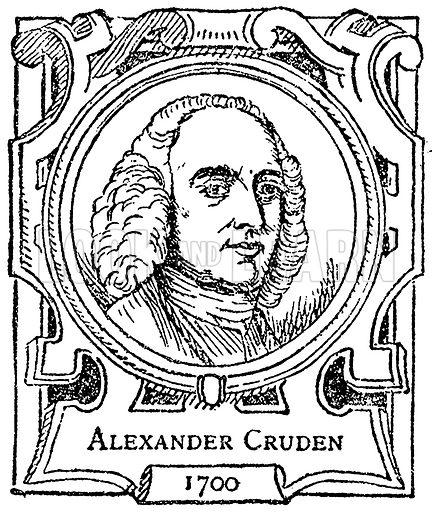 Alexander Cruden. Illustration for The Portrait Birthday-Book (Seely, c 1870).
