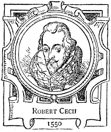 Robert Cecil. Illustration for The Portrait Birthday-Book (Seely, c 1870).
