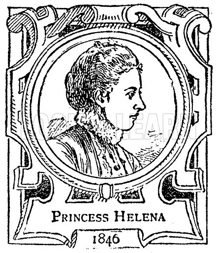 Princess Helena. Illustration for The Portrait Birthday-Book (Seely, c 1870).