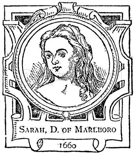 Sarah, D of Marlboro. Illustration for The Portrait Birthday-Book (Seely, c 1870).