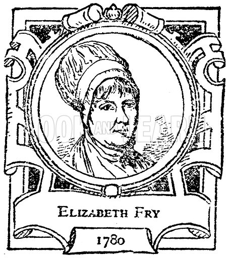 Elizabeth Fry. Illustration for The Portrait Birthday-Book (Seely, c 1870).