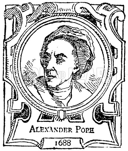 Alexander Pope. Illustration for The Portrait Birthday-Book (Seely, c 1870).